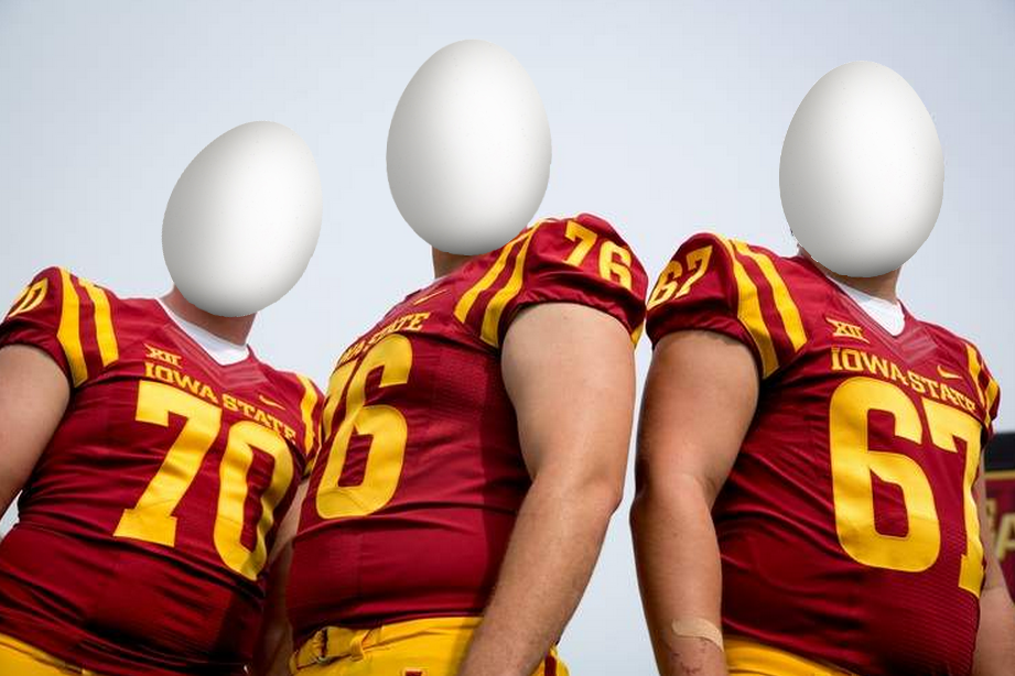 What Drew Ott sees when he lines up this Saturday: #Hawkeyes http://t.co/rYsEsutS1O