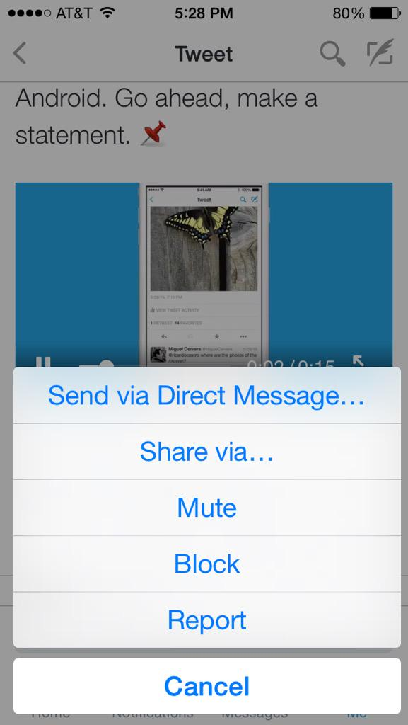 how to find your twitter url on iphone
