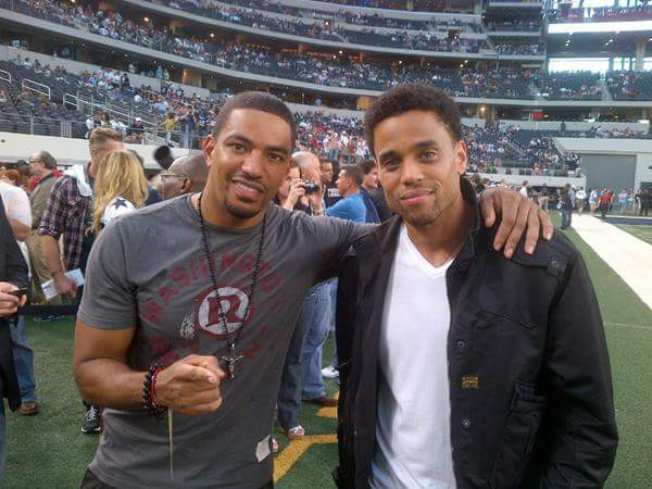 :-) My two favorite men: @lazofficial & @MichaelEaly!!! #Throwback