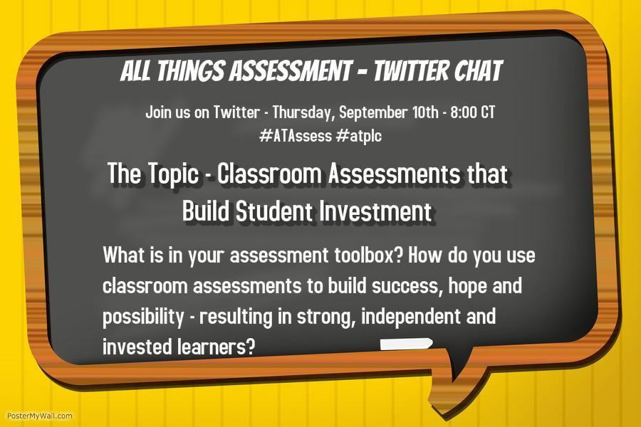 Join the #ATAssess crews first chat at 9:00 ET for the usual #atplc chat. Hope to ee you there. http://t.co/KwXa8BZiew