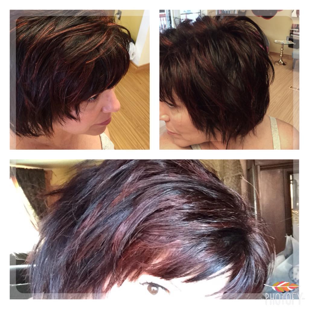 Salon 50 Cecil On Twitter Fall Trend Brown Cocoa W Cinnamon Hi Lites Haircut Haircolor Http T Co Gujyth1cvg