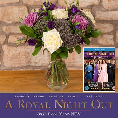 RT & Follow us to #WIN 5 X @flowerfete bouquets, A Royal Night Out DVDs & Rupert Everett signed poster #FreebieFriday