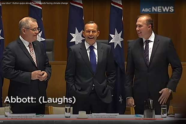 Tony Abbott, Peter Dutton Joke About Flooding Of Small Island Nations http://t.co/wciDNsX7Rf http://t.co/HWghOx4Cw8