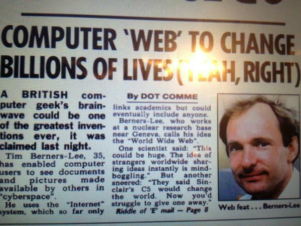 The Sun reporting on the World Wide Web in 1992. http://t.co/O1tTkLan1J