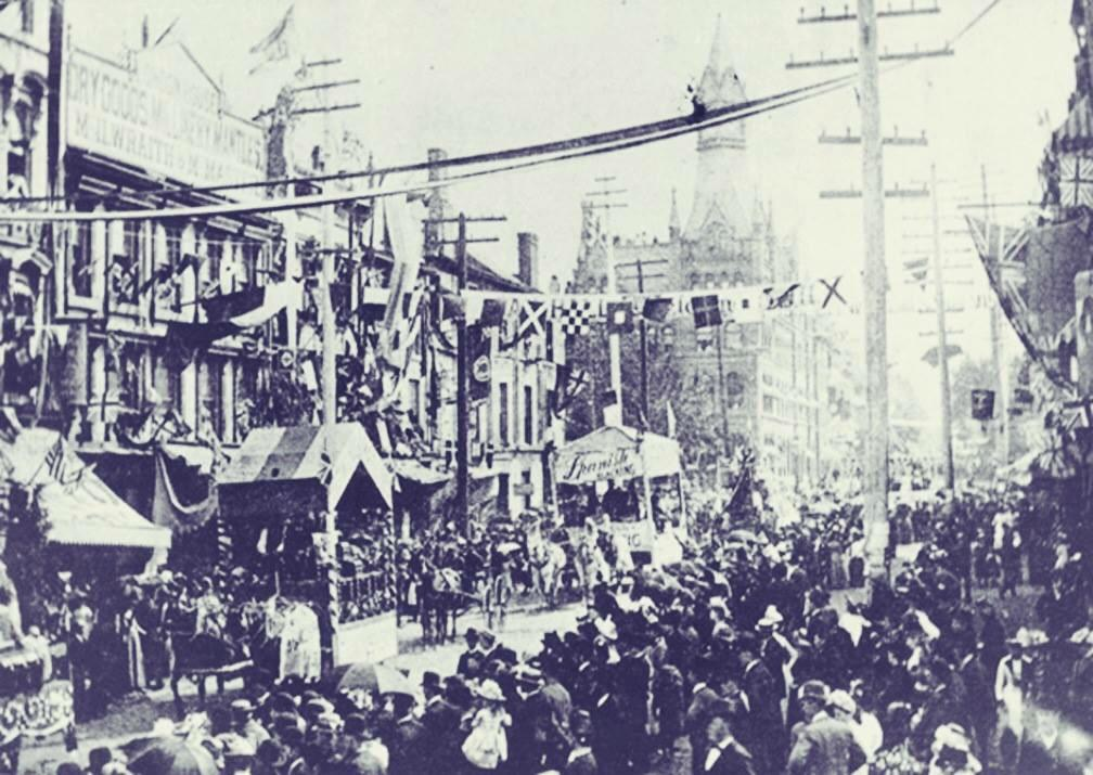 Street Festival - James Street North, #HamOnt, 1889. Possibly the very first Supercrawl. #Supercrawl2015 http://t.co/XeYszihtsl