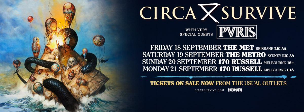 This time next week, our first @circasurvive show with @ThisIsPVRIS will be in progress. Which show will you be at? http://t.co/gGEmk3u4MS