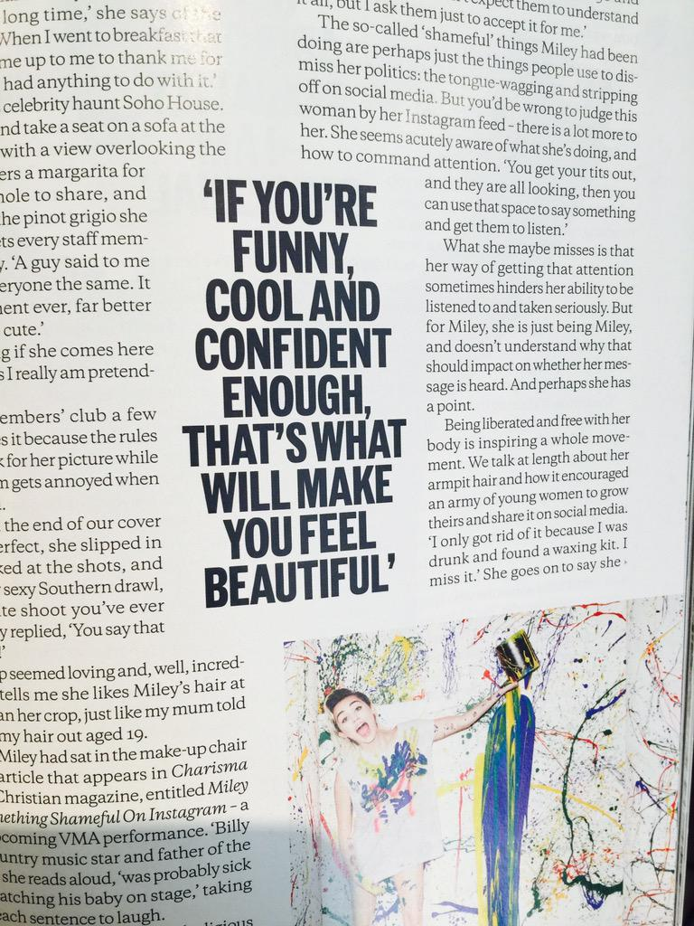 Yes @MileyCyrus loving all that you stand for in this article! 🙌🏾👍🏻❤️💪🏼 @ELLEMagUK http://t.co/Ube52hPf2X