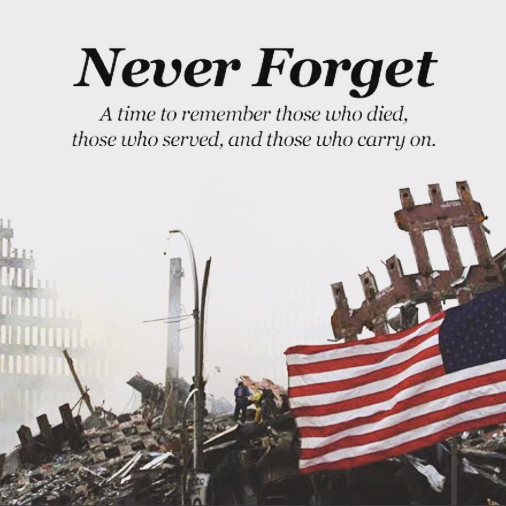 Take time for #Remember911 to remember those who died in this tragedy. #neverforget #NeverForget911 http://t.co/etp9fiBhxa