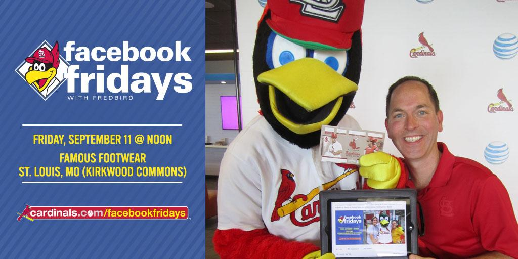 "St. Louis Cardinals on Twitter: ""Stop by Famous Footwear in Kirkwood Commons @ noon. #Fredbird will give away a ltd # of tix/items, 1stcome/1stserve! ..."