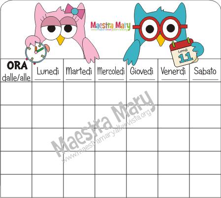 Maestra mary on twitter tabelle per l 39 orario settimanale for Maestra mary giornata della terra