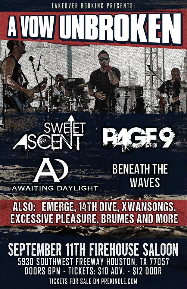 Tonight in Houston! RT @badlandsfm: @firehousesaloon @sweetascent @page9theband #alternative #indie #tonight http://t.co/uJ38xLRjKe