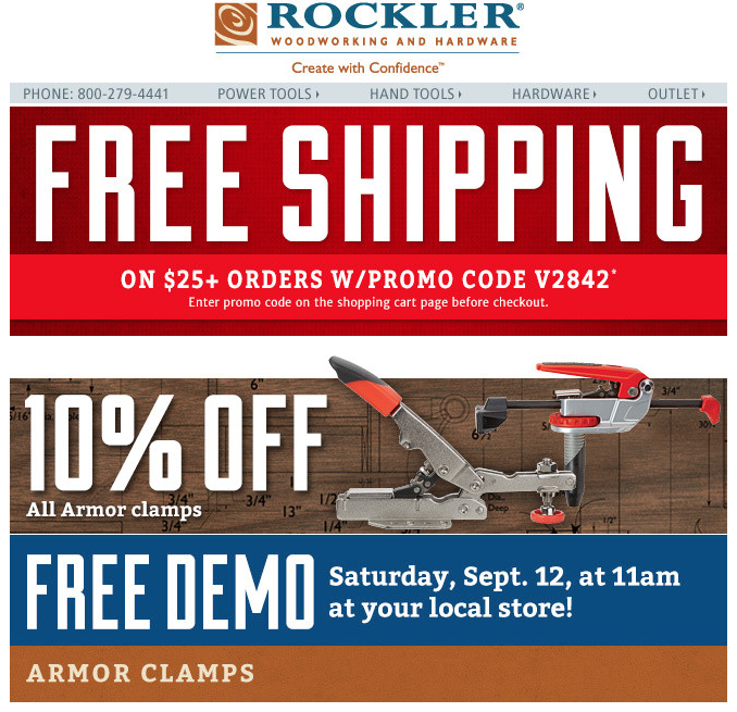 Rockler also ships to Alaska, Hawaii, and a variety of foreign countries. International shipping costs are calculated at checkout. Rockler Return Policy. You can return unwanted products directly to a Rockler retail store or send them back to vaicepranspe.tk in the mail within 90 days of .