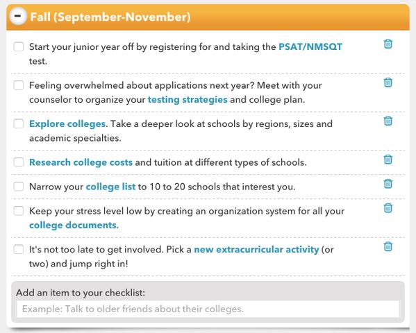 College essay checklist