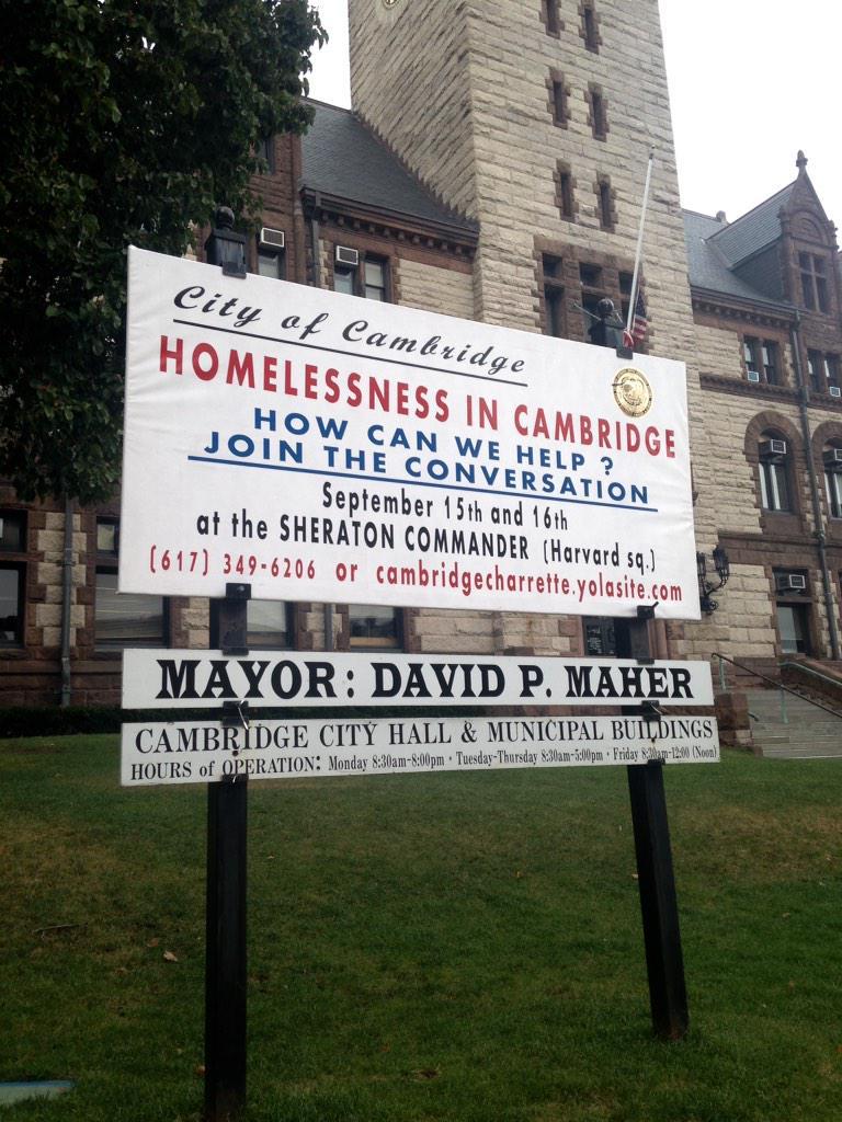 Join us next week for the #CambMa Charrette on #Homelessness ! #endhomelessness #cambridgecharrette http://t.co/XymGdkOVLJ