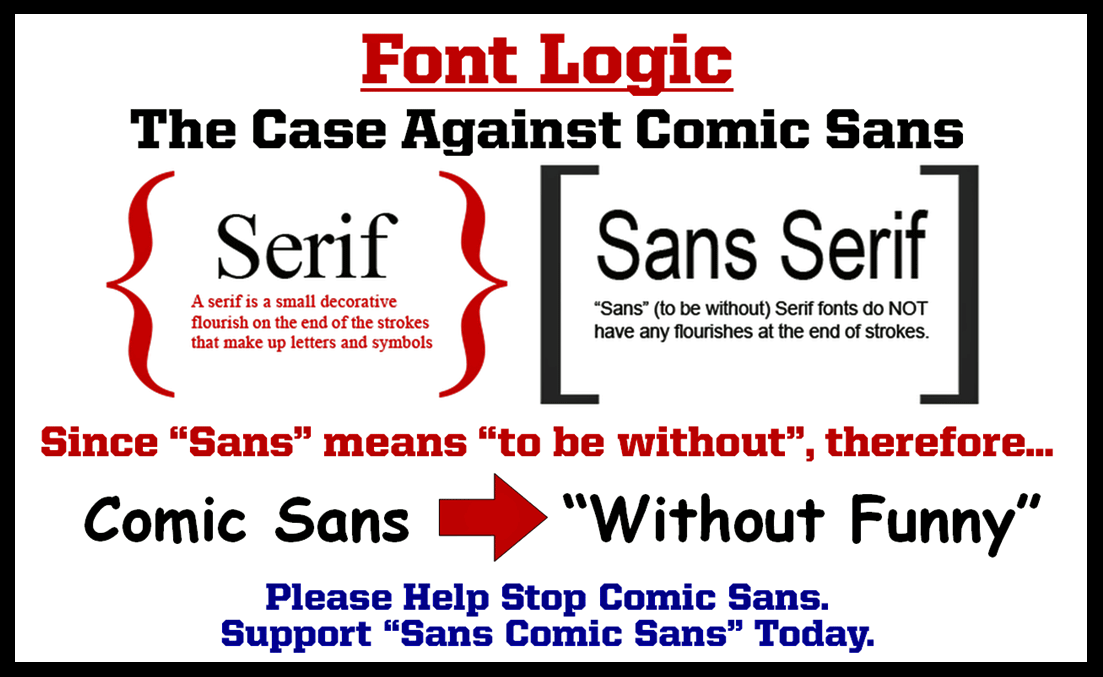 Don Mcmillan On Twitter Theres Nothing Funny About Comic Sans
