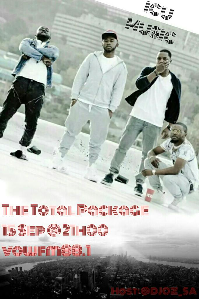 @ICUmusic will be on #TheTotalPackage vowfm this coming Tuesday dropping