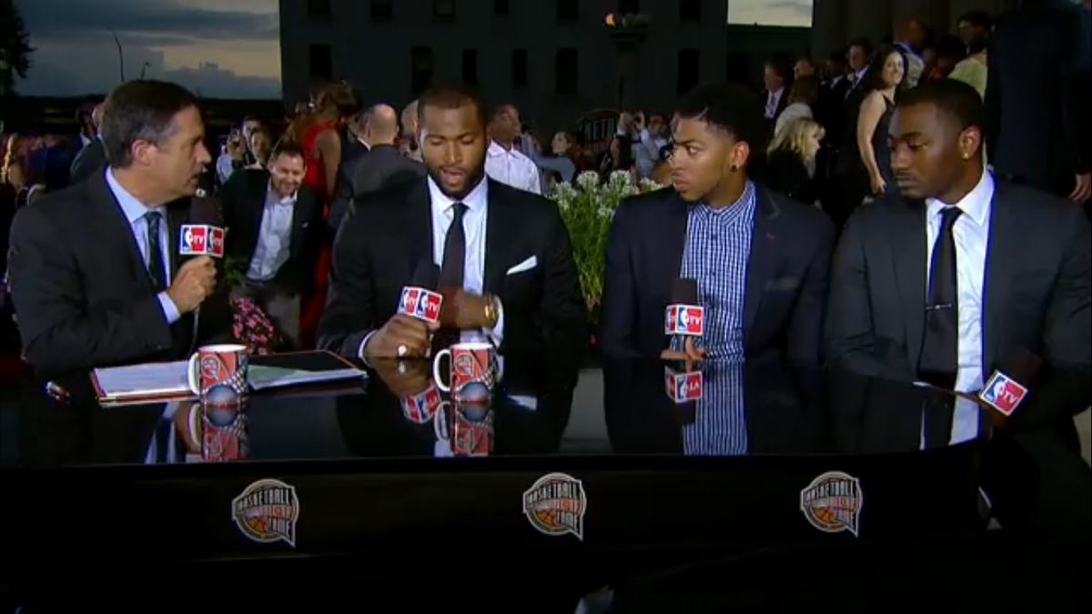 Kentucky stars DeMarcus Cousins, Anthony Davis and John Wall showed up for John Calipari\'s Hall of Fame induction