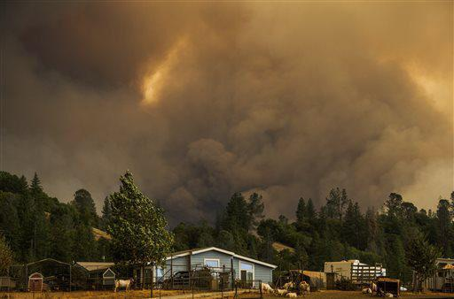 Incendio California: San Andreas totalmente evacuato.