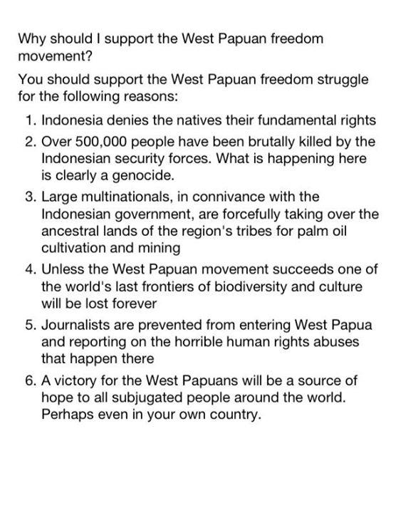 Why should I support the #WestPapua freedom movement? http://t.co/DQmSlPtD9k RT @PurePapua RT @pietersina #HumanRights #Activism