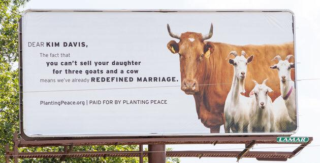 This billboard just went up in Kim Davis' home town. http://t.co/uUeyFHqYOD