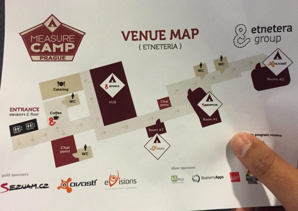 Avast, Seznam a eVisions, jsou místnosti, ve kterých se bude odehrávat @MeasurecampCZ #measurecamp http://t.co/GQgjoLAZ6x