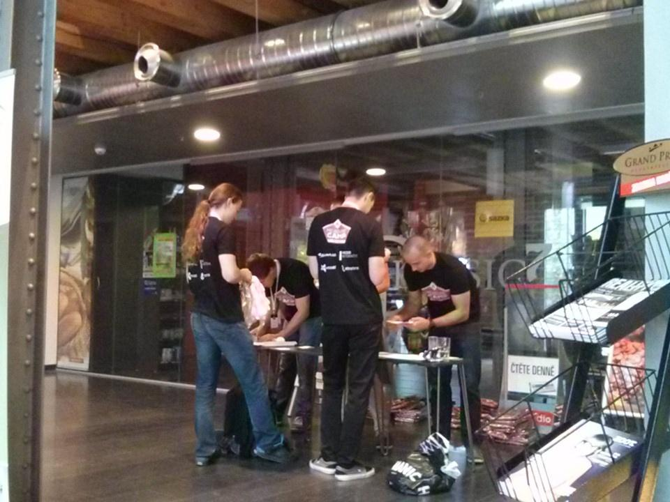 The team of #MeasureCamp Prague is getting ready for first visitors http://t.co/F93uttEaxP