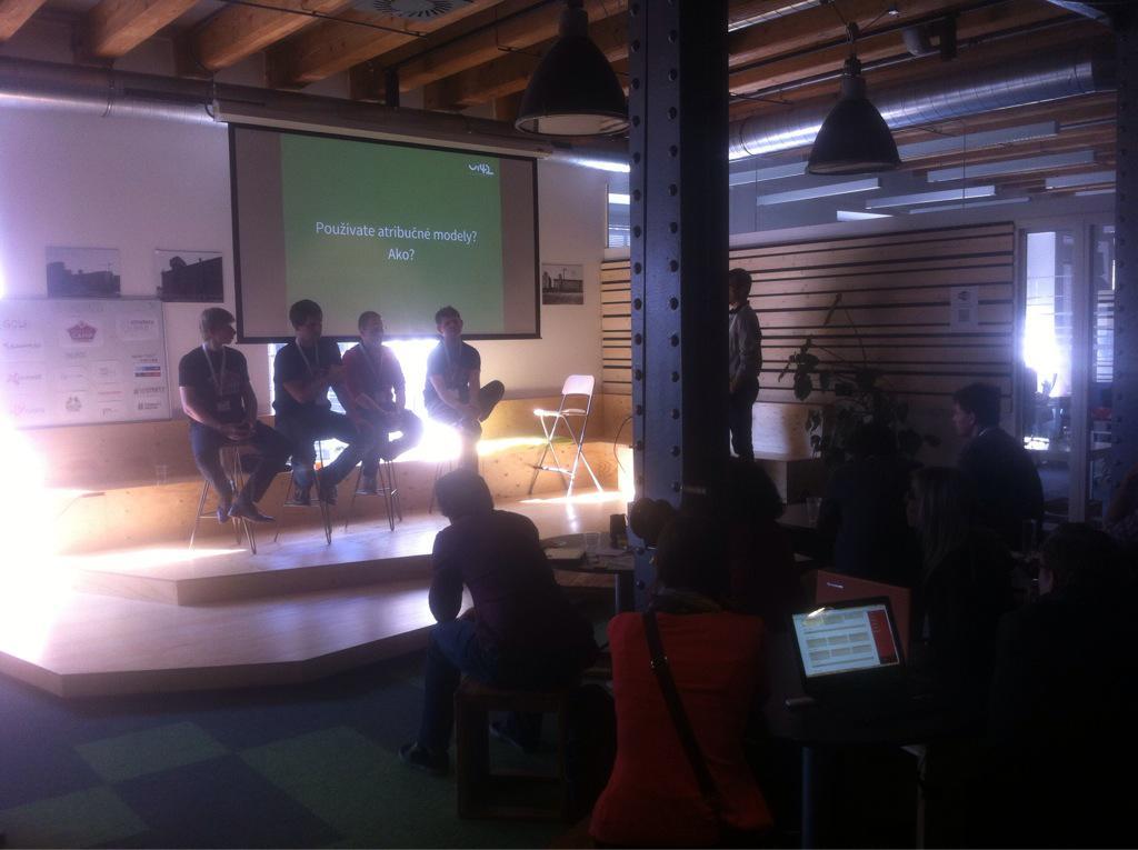 V panelové diskuzi o atribučním modelování @paveljasek, @appeltauer, @jantichy, @NEmarketak,@peterjakus #measurecamp http://t.co/C0cNOQrTOR