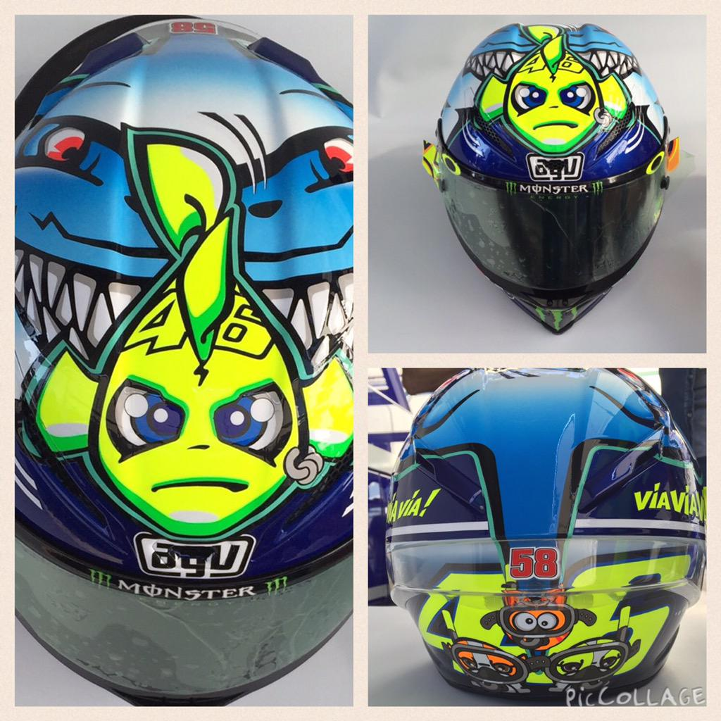 Under water, under pressure. New Misano helmet for @ValeYellow46 http://t.co/yvDvvtbOsV