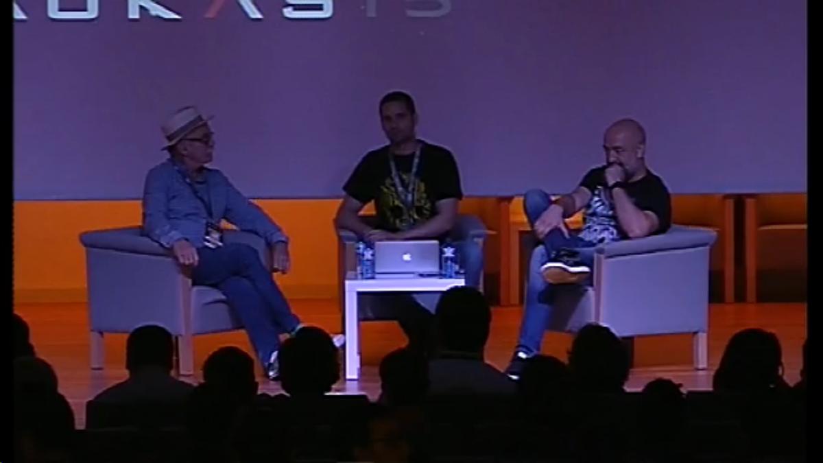 Invitados de lujo para hablar de evolución: @eudaldcarbonell y @Goyojimenez #Naukas15