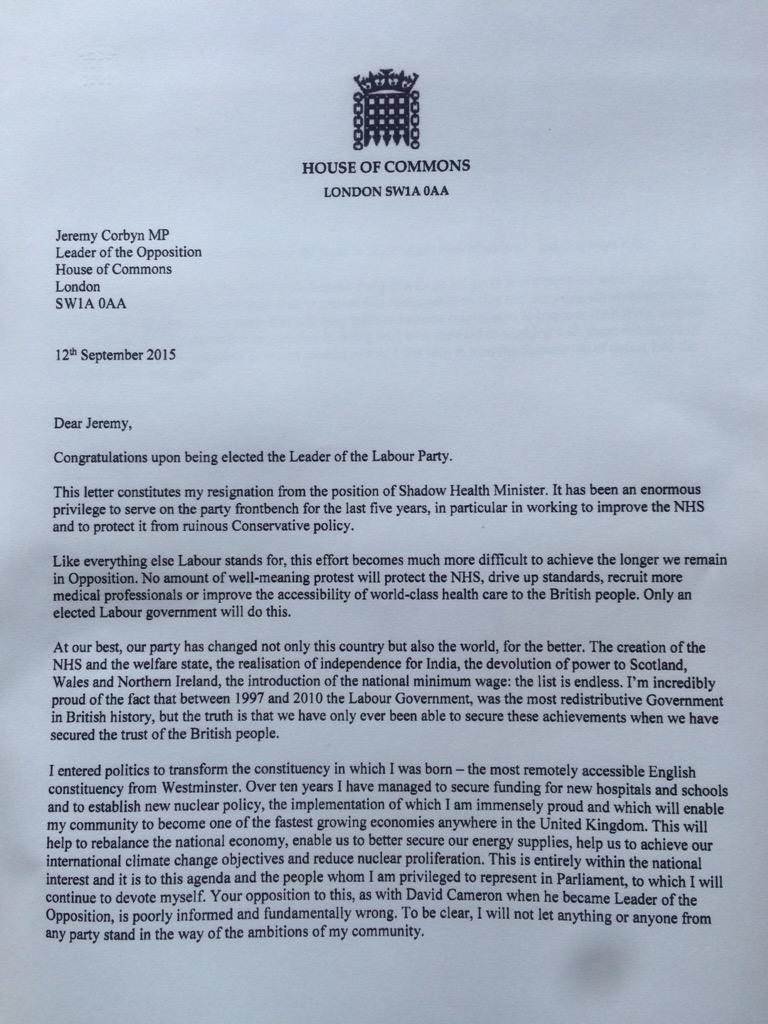 Jamie reed on twitter congratulations to jeremy corbyn my jamie reed on twitter congratulations to jeremy corbyn my resignation letter from the uklabour front bench httptul6xfvehkz expocarfo Image collections