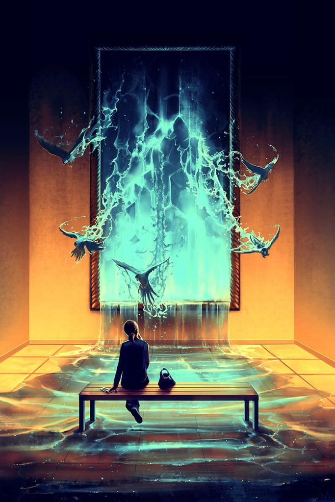 シリル・ロランド(1984〜)による作品。フランスの画家、心理学者。2004年よりデジタルで作品を制作しています。人間の感情的を色で表現しています。
