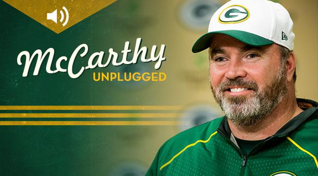 ICYMI: Listen to #Packers Head Coach Mike McCarthy's first-ever podcast on iTunes. Subscribe: http://t.co/pDhqX73vzt http://t.co/QhA2aOIRfO