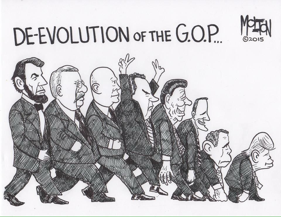 the evolution of the republican party The evolution of political parties and party systems at present the texas republican party is at the apex of a meteoric rise in stature and power that took.