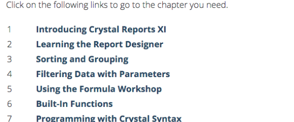Crystal Reports (@CrystalReportOT)   Twitter
