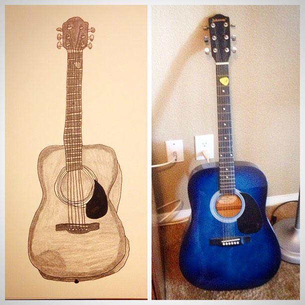 I've been wanting to draw my guitar for awhile. This was a fun one! #drawing #Art http://t.co/kzHudGttRY