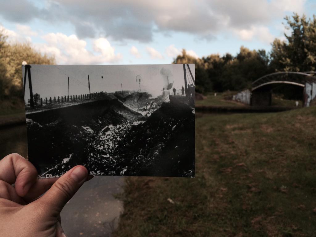 Explosion Canal Burst 2.30am 9th September 1899, Dudley Port #walkingtheshroppie http://t.co/gR6EoDnWnX