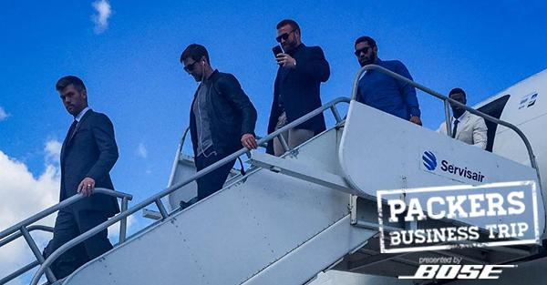 Photos from today's first regular season #PackersBusinessTrip, presented by @Bose: http://t.co/PL7jZzd0MW #GBvsCHI http://t.co/D6wS8iIE0S