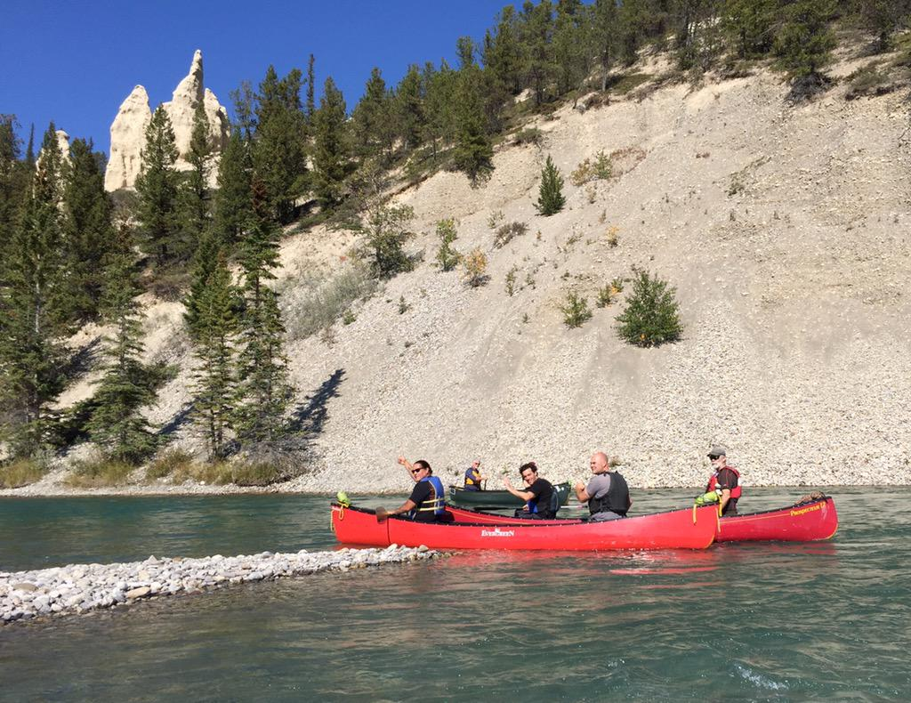 #Canoeing in the Rocky Mountains with @waub @josephboyden @BradGHahn @ChipOlver & @riverkim81 @thebanffcentre http://t.co/311MQpjOI0