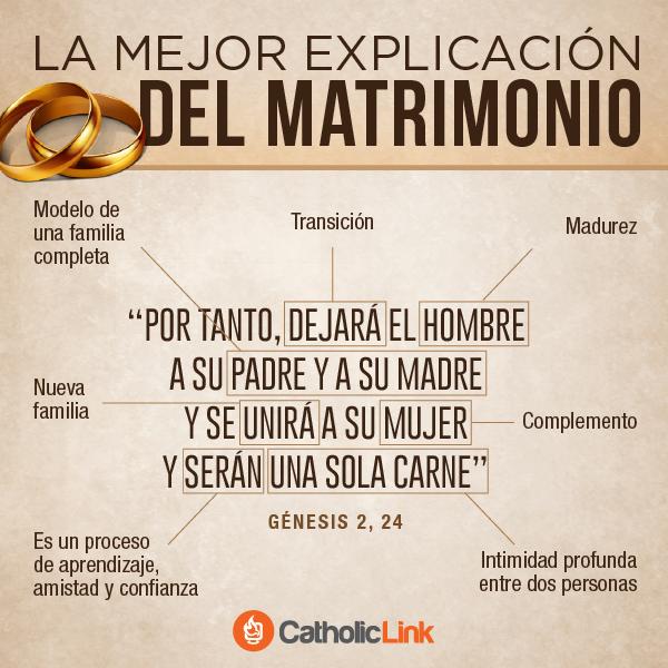 El Matrimonio La Biblia : Catholiclink español on twitter quot la mejor explicación del