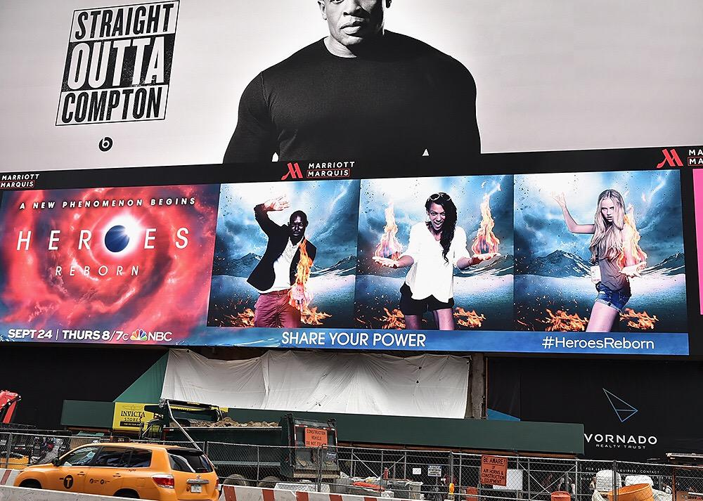 #Heroes Time Square NYC Takeover!  @heroes  24 Sept NBC http://t.co/m85iv35xuS
