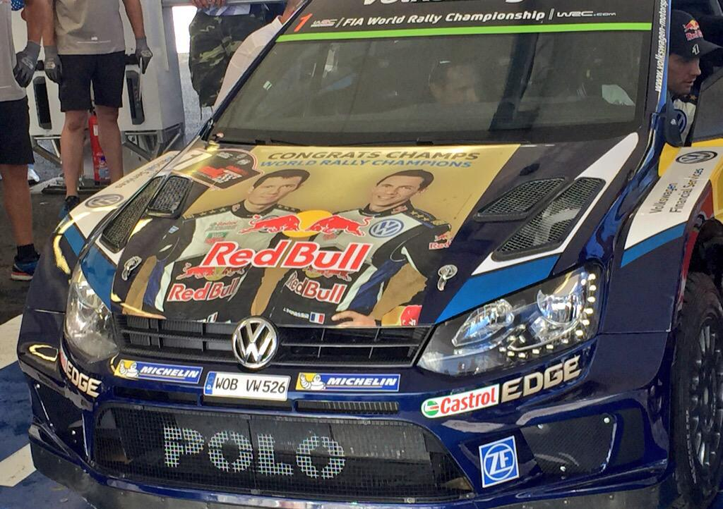 World Champions @SebOgier!!! @VWRallyTheWorld #WRC http://t.co/oXn8jwORWs