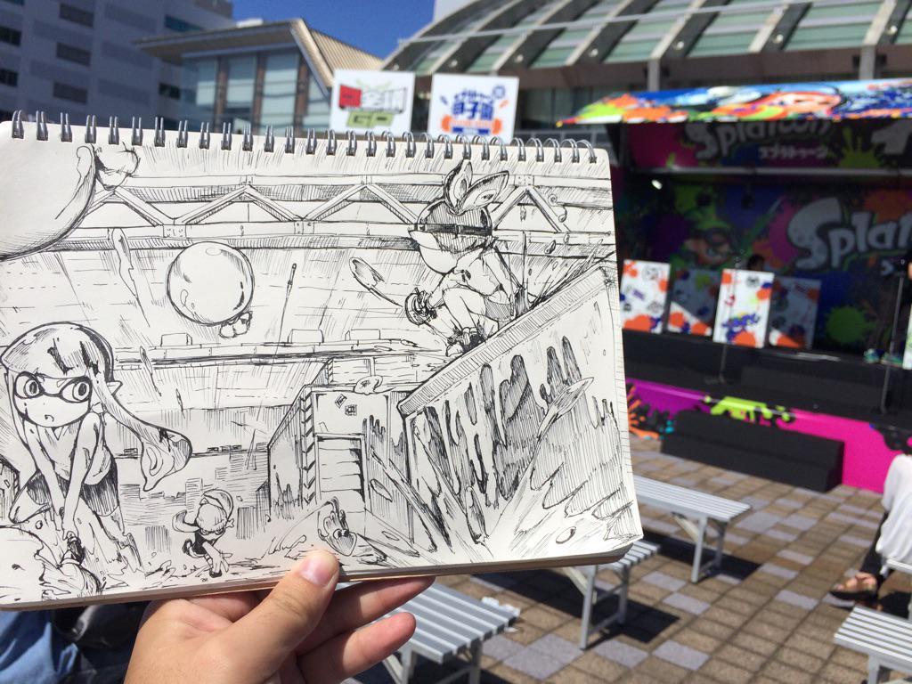 スプラ甲子園出れなかったため絵を描いて応援してました! http://t.co/iwItodsgay
