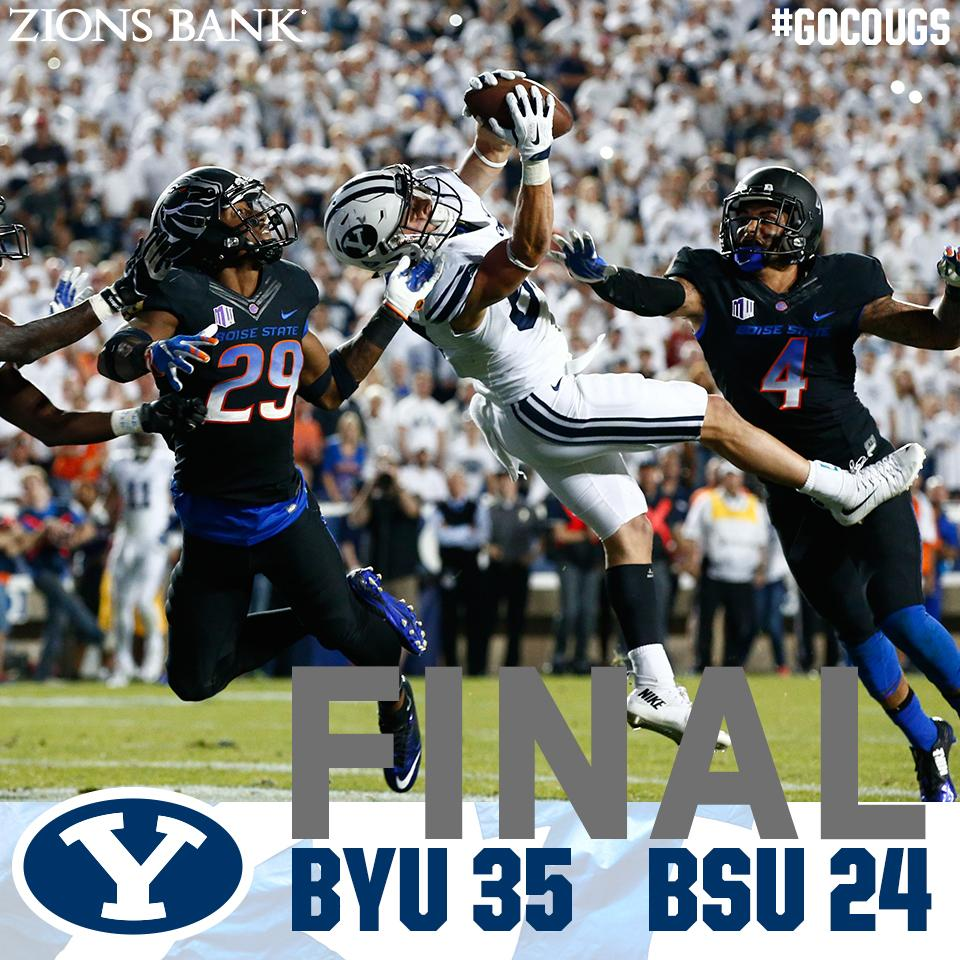 Tanner Mangum throws a 35YD TD to Mitchell Juergens in the final min for another BYU victory!!  #GoCougs #BOISEvsBYU http://t.co/YQ9Vt6zG74