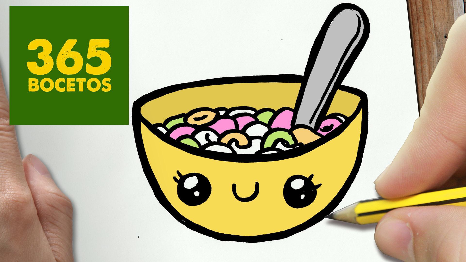 """365 BOCETOS On Twitter: """"No Puedes Perderte Este Tutorial De Como Dibujar Unos Cereales Kawaii"""