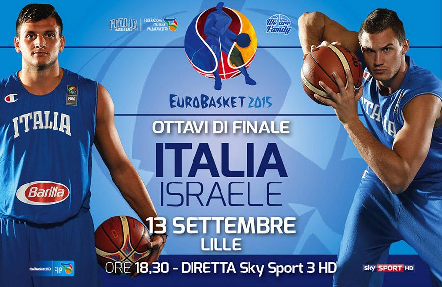 Diretta ITALIA-Israele Basket Rojadirecta Streaming Gratis Video Live TV Europei Pallacanestro 2015.