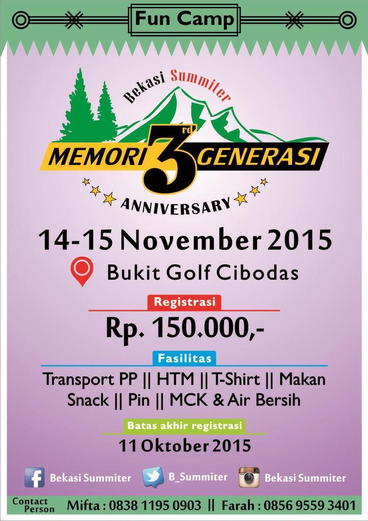 #Memori3Generasi Bekasi Summiter