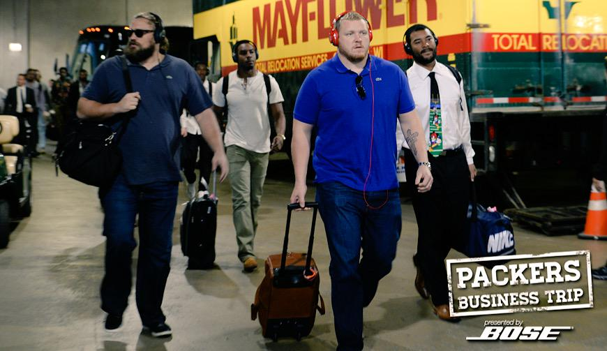 The #Packers have arrived. #PackersBusinessTrip #GBvsCHI http://t.co/hqTrTYH4ko