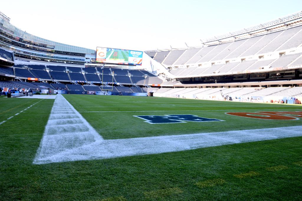 Welcome to Soldier Field for Week 1. #GBvsCHI http://t.co/fBDMR9sVRh