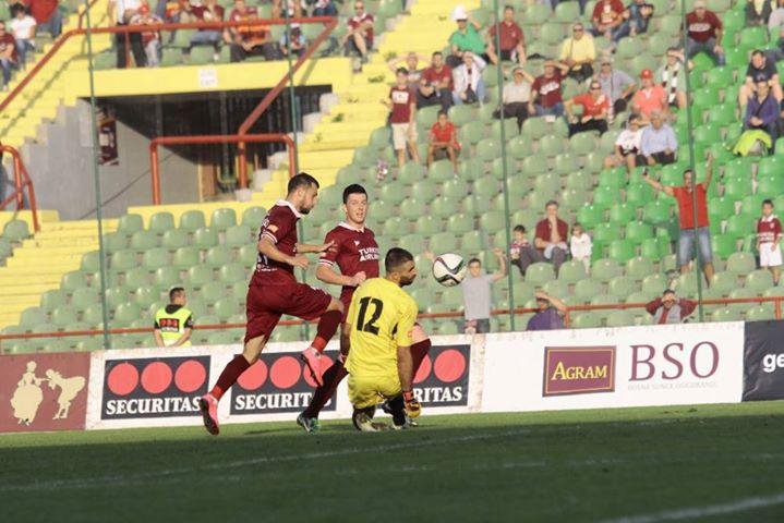 Velkoski scores his goal; photo: Sarajevo
