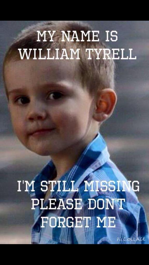 A year on, PLEASE help bring this little man home.Somebody Somewhere must know something #FINDWILLIAM #WilliamTyrrell http://t.co/IF4P1vVt0e